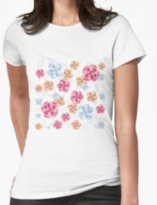 Beautiful Colourful Carnations Womens Fitted T-Shirt