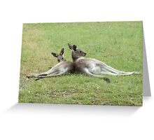 Kangaroo Buddies Greeting Card