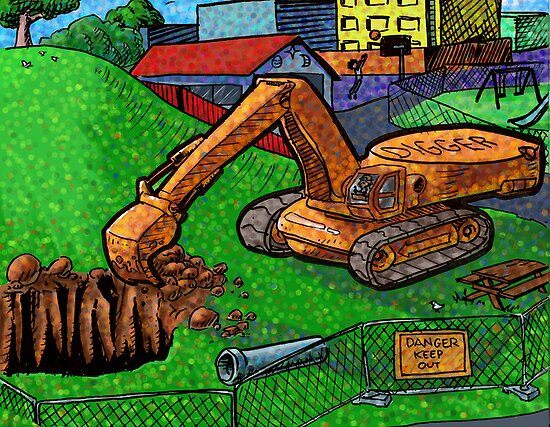 Digger in the park by Filter