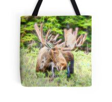 Moose Glow  Tote Bag
