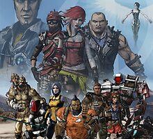 Borderlands 2 Poster by Thinkphar