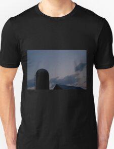 Yade Barn Roof and Silo at Twilight T-Shirt