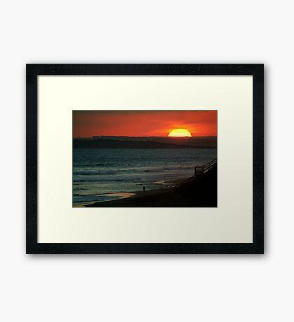 Last Surf,13Th Beach,Bellarine Peninsula Framed Print