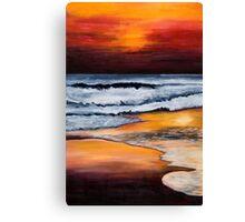 Sunset on Sand Canvas Print