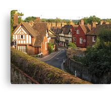 Aylesford High Street from Cage Hill Canvas Print