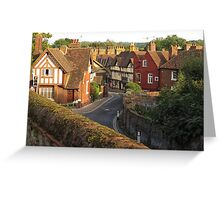 Aylesford High Street from Cage Hill Greeting Card