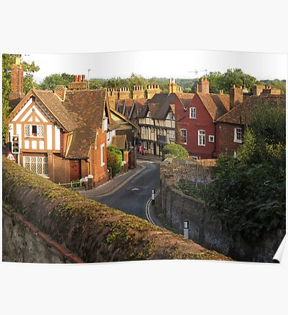 Aylesford High Street from Cage Hill Poster