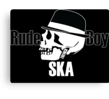 Rude Boy Skull Canvas Print