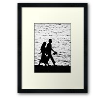 Life on the water line  Framed Print