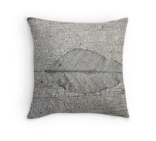 Sidewalk Art by Leaf Throw Pillow