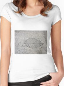 Sidewalk Art by Leaf Women's Fitted Scoop T-Shirt