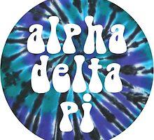 Alpha Delta Pi - Teal Tie Dye by adpithon