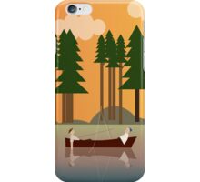 Sunset in the swamp iPhone Case/Skin