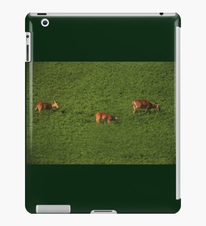 Deer in Bean Field iPad Case/Skin