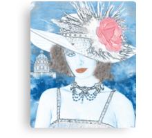 FEMME EN BLEU Canvas Print