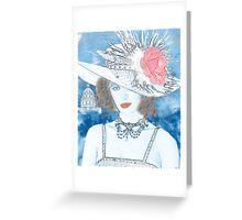 FEMME EN BLEU Greeting Card