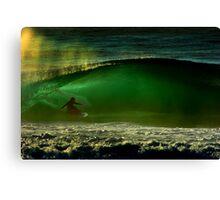 albert munoz.kneeboard surfing Canvas Print