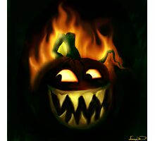 Jacks Hallowe'en fire Photographic Print
