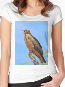 Yellow-billed Kite - African Raptors of Power Women's Fitted Scoop T-Shirt