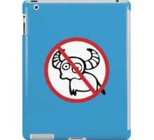 NO Water Buffalo Sign iPad Case/Skin