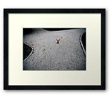 X marx the X-roads Framed Print