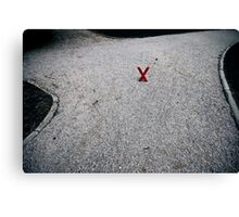 X marx the X-roads Canvas Print