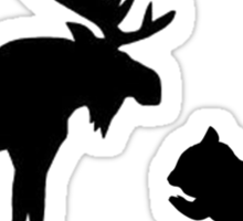 Moose & Squirrel Sticker