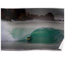 simon farrer.kneeboard surfing Poster