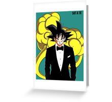Goku in Suit and Tie Greeting Card