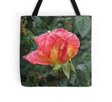 Wet and Wild Rose Tote Bag