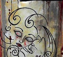 Cat Rescue Adoption Advocacy Folk Art Loralai by LoralaiOriginal