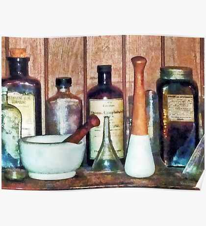Mortar and Pestle and Pestle Poster
