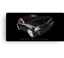 Ford Mustang - Black Canvas Print