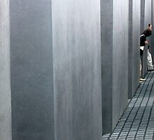 Solemn -Holocaust monument Berlin, Germany by Faith Hunter