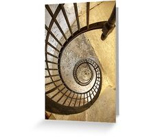Spiral of decay Greeting Card