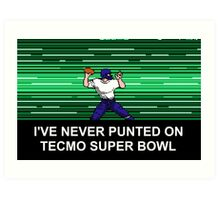 NES Nintendo Tecmo Super Bowl Never Punted Art Print