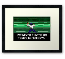 NES Nintendo Tecmo Super Bowl Never Punted Framed Print