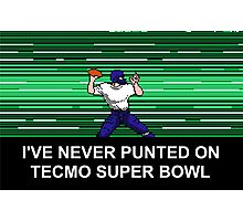 NES Nintendo Tecmo Super Bowl Never Punted Photographic Print