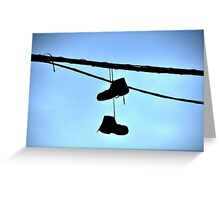HUNG BOOTS Greeting Card