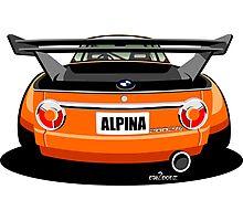 BMW 2002 tii Alpina rear view Photographic Print
