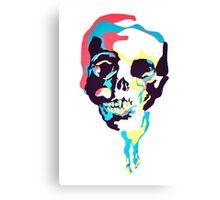 Silk Screen Skull Canvas Print
