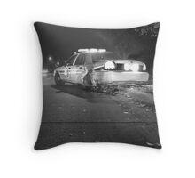 Cop Crash Throw Pillow