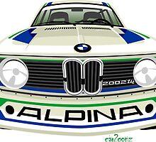 BMW 2002 tii Alpina white by car2oonz