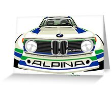 BMW 2002 tii Alpina white Greeting Card