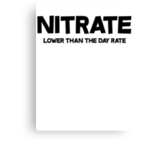 Nitrate Lower than the day rate Canvas Print