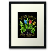 Will mow for rupees Framed Print