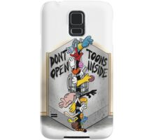 Don't open, TOONS inside. Samsung Galaxy Case/Skin
