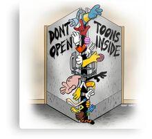 Don't open, TOONS inside. Metal Print