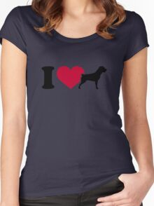 I love Rottweilers Women's Fitted Scoop T-Shirt