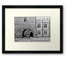 256 - ABBEY ARCH, NORTHGATE STREET, CHESTER DAVE EDWARDS - INK 2014 Framed Print